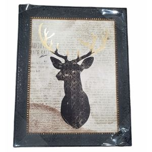 New With Tags! Deer On Dictionary Framed Art